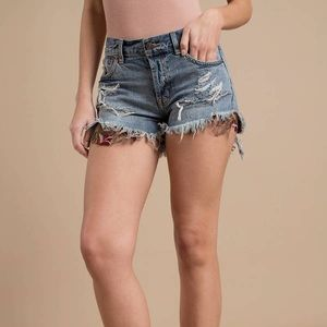 Free People Denim Jeans Shorts NWT